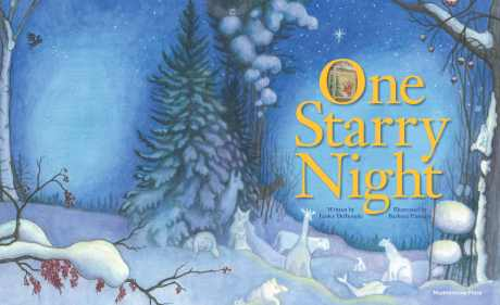 Barb Flanagin's beautiful illustration for the cover of One Starry Night.